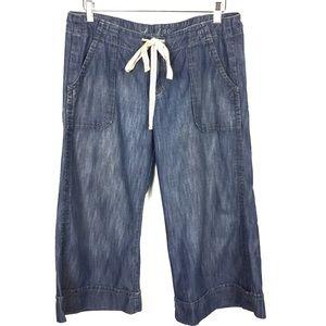Level 99 Wide Leg Drawstring Cropped Pants